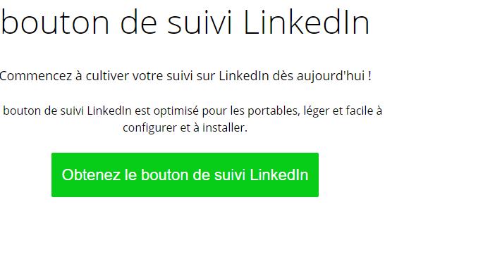 Creer le bouton de suivi pour Linkedin