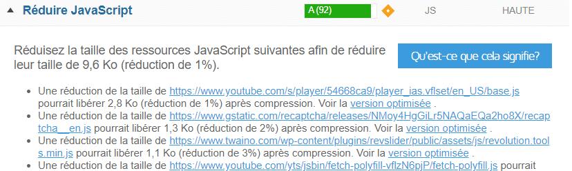 minimiser Javascript