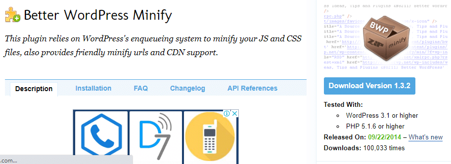 outil de minification Better‌ ‌WordPress‌ ‌minify