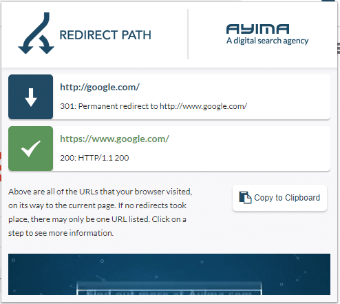 Redirect Path signale les codes d etat HTTP