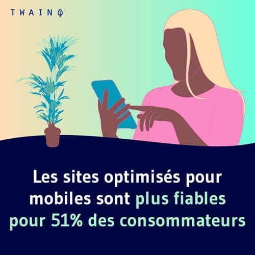 51 pourcent des consommateurs trouvent que les sites optimises pour les mobiles sont plus fiables