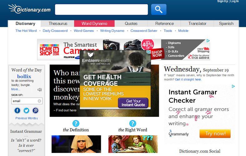 un nombre important de publicites peut être responsable de la lenteur de son site internet