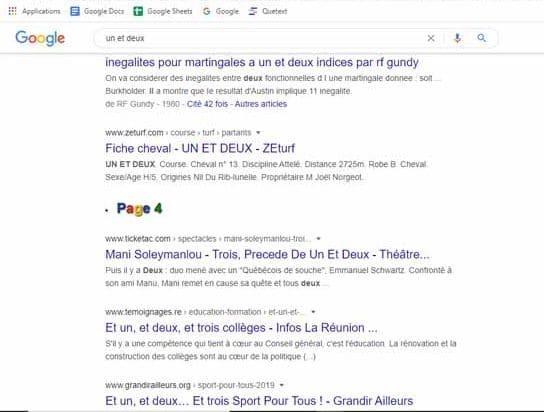 gInfinity outil permettant de faire défiler a l infini les resultats d une requete sur son moteur de recherche
