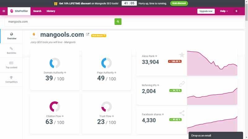 Mangools SEO un moyen puissant pour effectuer une analyse rapide d un site web depuis la suite Mangools SEO
