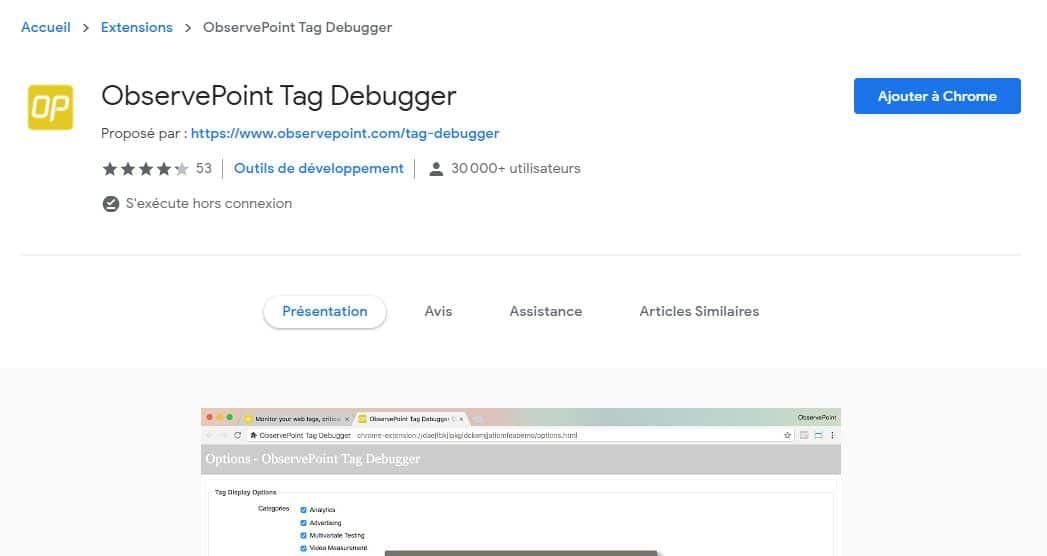 ObservePoint TagDebugger