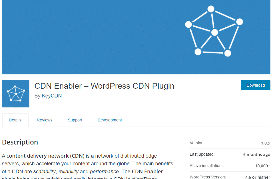 CDN Enabler plugin WordPress pour ameliorer la vitesse de son site web