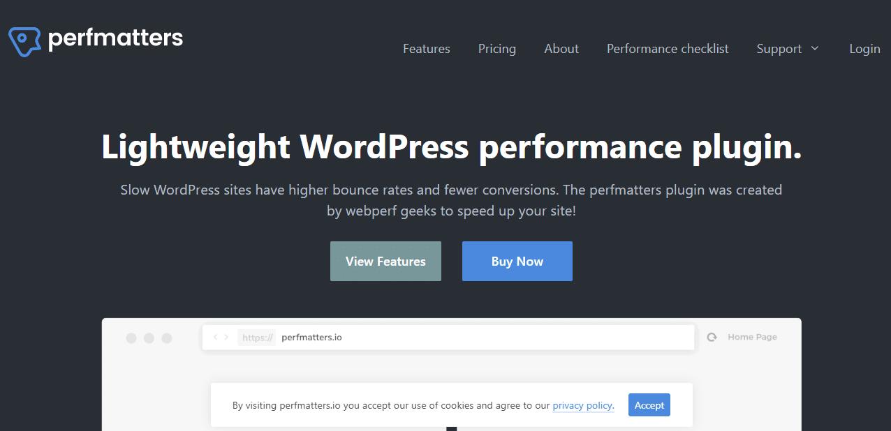 Perfmatters plugin WordPress pour ameliorer la vitesse de son site web