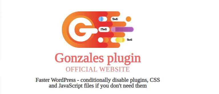Gonzales plugin WordPress pour ameliorer la vitesse de son site web