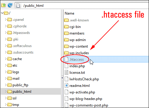 Fichier .htaccess