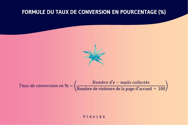 Formule de taux de conversion en pourcentage
