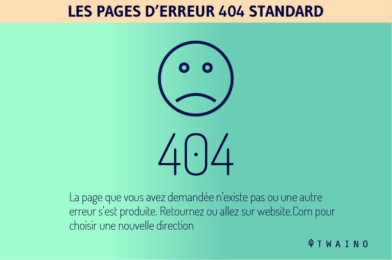 Les pages d erreur 404 strandard