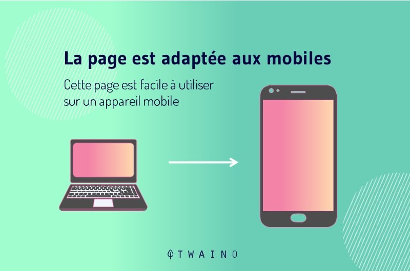 test reussi de site adapte au mobile