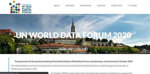 Le Forum mondial sur les donnees