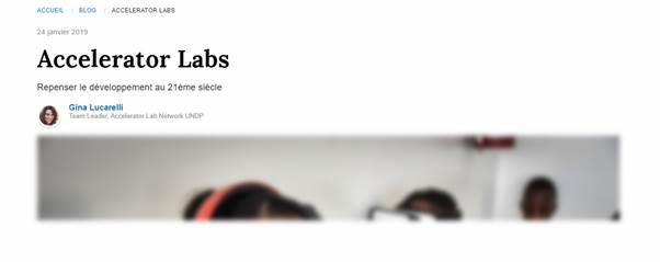 Les Laboratoires d'accelerateur du PNUD