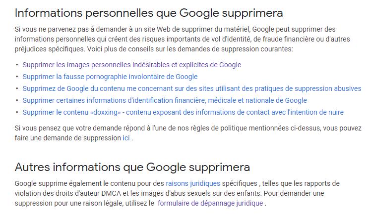 Suppression de Google