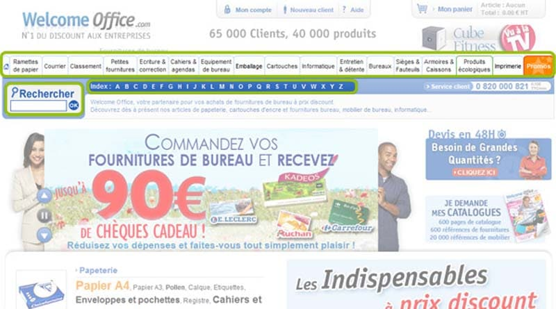 La plateforme de vente en ligne Welcome Office