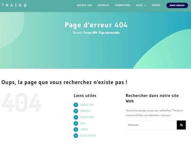 Page d erreur 404