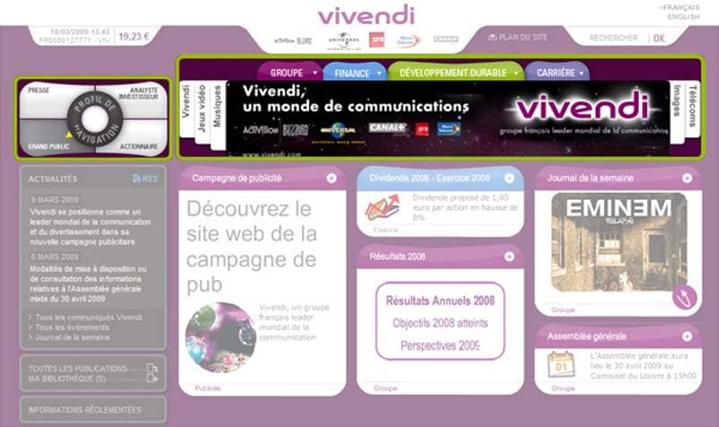 La compagnie de communication Vivendi