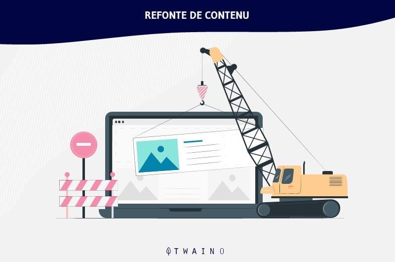 Reaffectation de contenu et refonte de contenu