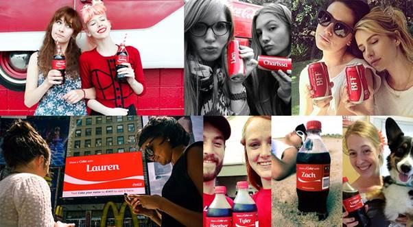 Coca personnalisees avec leur nom