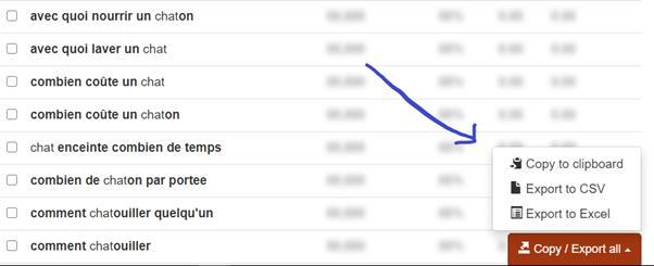 Bouton sur Excel ou CSV