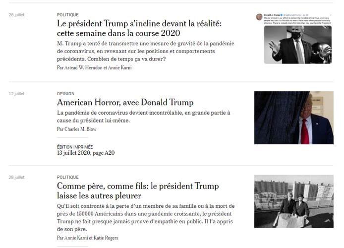 Le New York Times de presenter ses liens contextuels