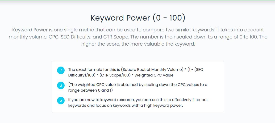 Keyword power