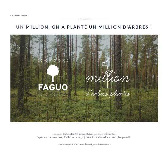 Un million d arbres