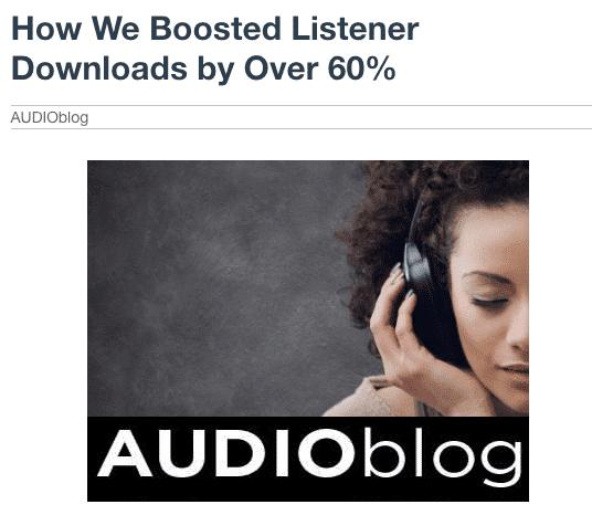 Audio Blog