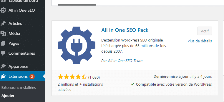 L extension ALL In SEO