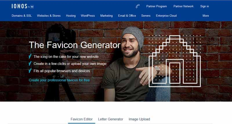 Generateur de favicon Ionos