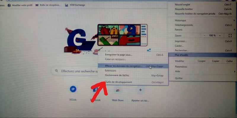 barre d outils Chrome