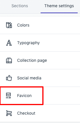 Theme setting favicon