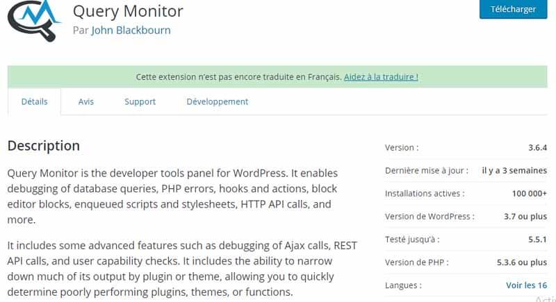 Description Query monitor