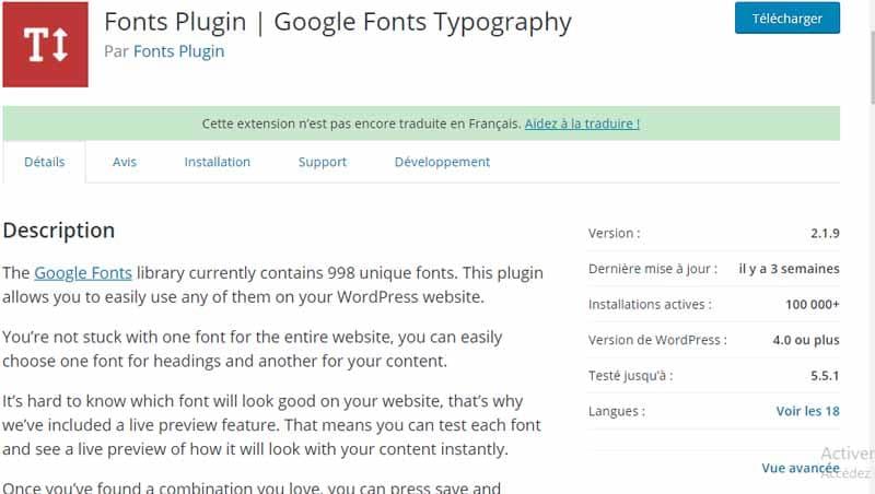 Fonts plugin