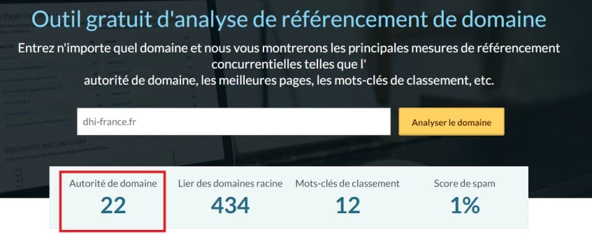 Outil d analyse Moz