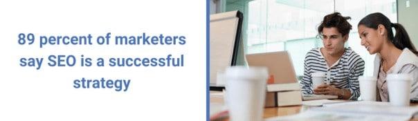 SEO est une excellante strategie selon 89 % des marketers