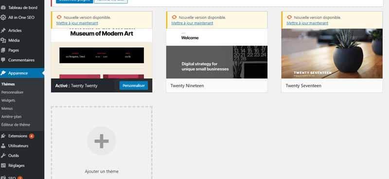 Exemple de theme WordPress