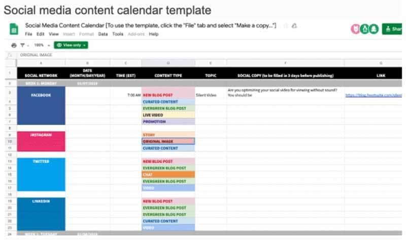Planification des publications