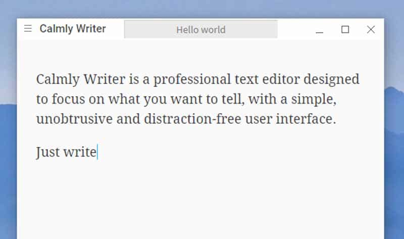Calmy Writer