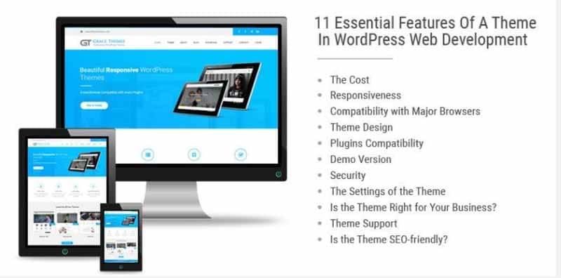 les caracteristique des themes WorPress