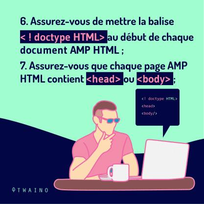 Carrousel AMP Partie 4-07 Balise en debut de chaque document AMP HTML