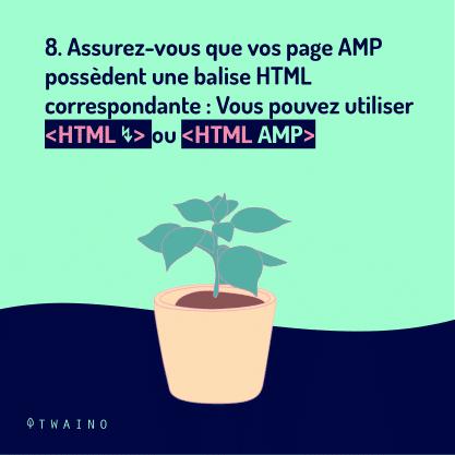 Carrousel AMP Partie 4-08 Balise HTML correspondante