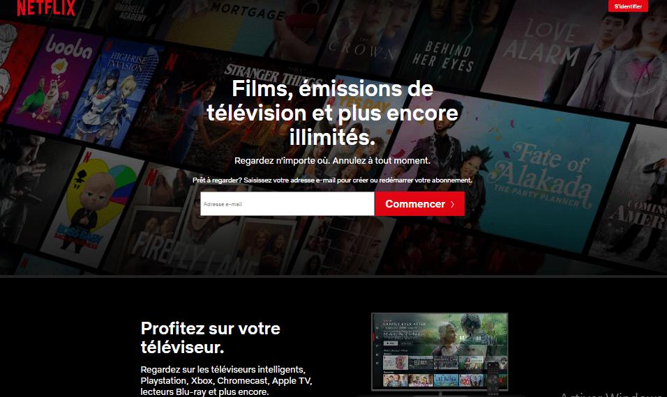 Acceuil Netflix