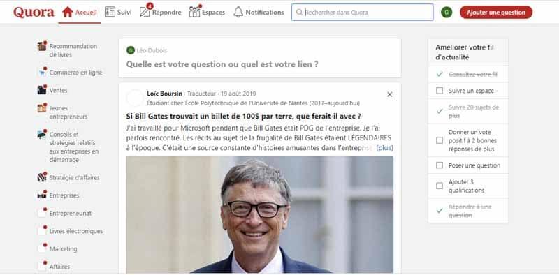 repondre aux questions sur Quora