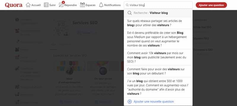 Visiteur blog