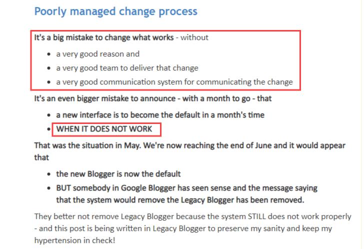 Google communique tres peu sur les changements