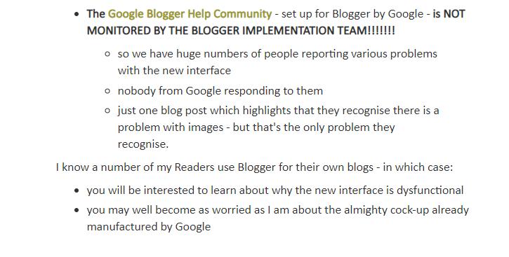 un utilisateur de Blogger