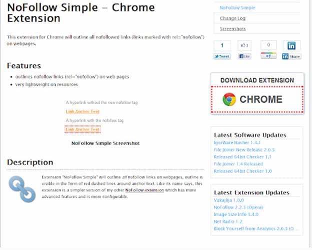 NoFollow Simple Chrome