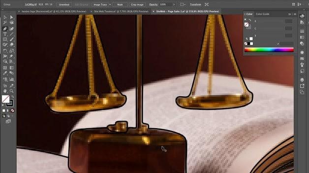 Creer un dessin pour les avocats